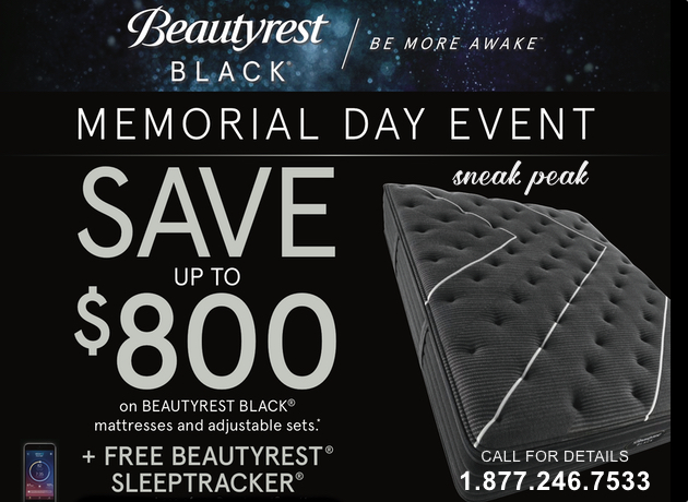 Beautyrest Black Memorial Day Sale