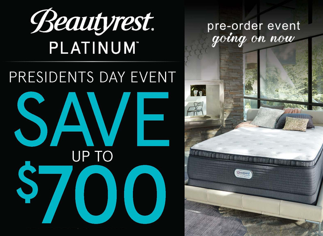 Beautyrest Platinum Presidents Day Sale