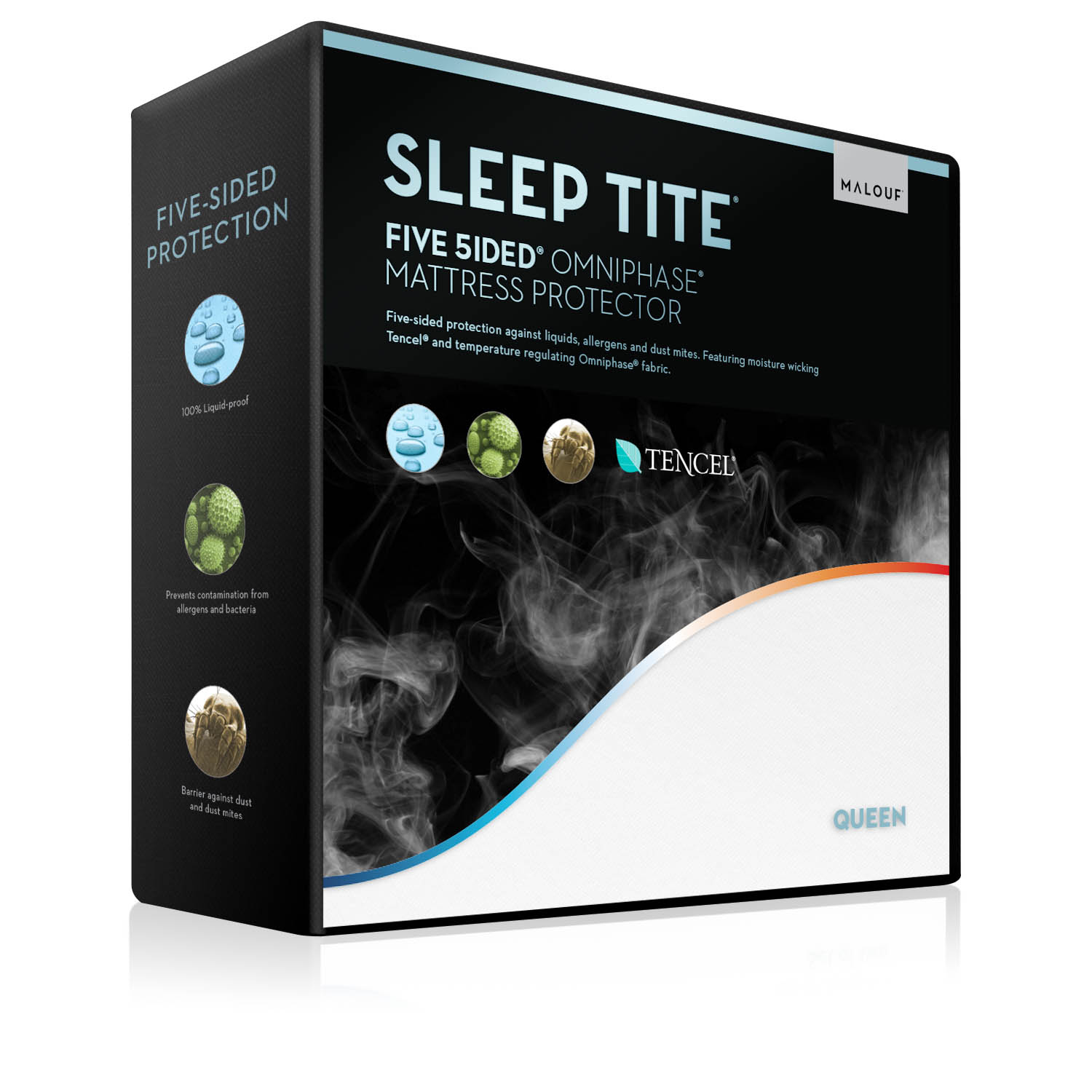 Malouf Sleep Tite Five Sided Omniphase Mattress Protector