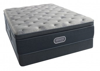 Simmons Beautyrest Silver Charcoal Coast Luxury Firm Pillow Top Mattress