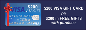 $200 Visa Gift Card with Purchase