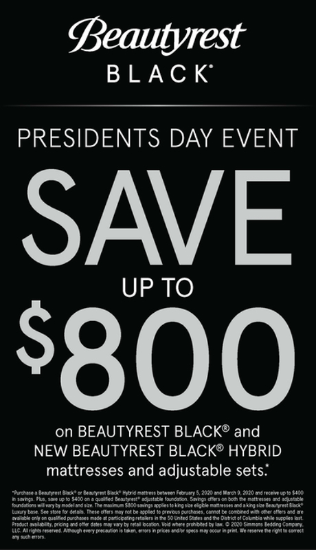 Beautyrest Black Presidents Day Sale
